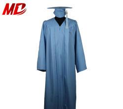 Erwachsene Himmel-Blau-Staffelung-Schutzkappen-Kleid-Troddel für Highschool