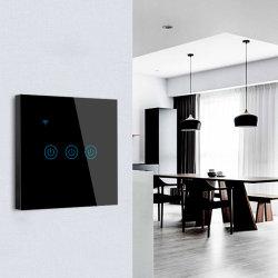조광기 메탈 프레임 알루미늄 하우스 몰드 더블 WiFi 터치 보드 소켓 및 스위치가 있는 USB 120 HDL 24 V 전기 스마트 스위치 중립 2000W 없음