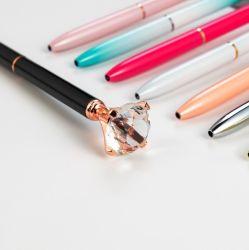 Promozione Big Top Diamond Pen multicolore Diamond Crystal Ballpoint Penna a sfera per regalo di nozze