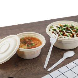 فرن ميكروويف قابل للتحلل البيولوجي وعاء طعام صديق للبيئة قابل للتحلل من علبة طعام قابلة للتحلل أدوات المائدة المضادة للتسرب لنشا الذرة