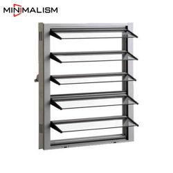 Ventana de persiana de vidrio de 5mm con bastidor de aluminio para la ventilación Obturador automático/aluminio con vidrio/Perfil para el cuarto de baño/Almacén