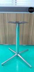 광택 알루미늄 베이스 4갈래 스테인리스 스틸 크롬 접이식 테이블 베이스