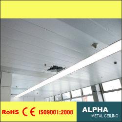 アルミニウム装飾的な金属によって中断されるCによって形づけられるストリップの風抵抗力がある線形天井