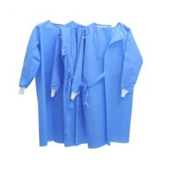 Livello protettivo a gettare 1 di AAMI cappotto resistente fluido del laboratorio dell'abito di isolamento del tessuto del Nonwoven 2 3
