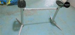 Venda por grosso de alumínio Dobrável Polonês Pesado de Base de mesa 2 Lugares da base da mesa de metal do Tubo