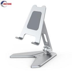Aluminio telescópico de ajuste de pedestal de soporte de teléfono móvil