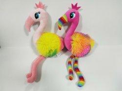 푹신한 장난감 - 어린이 선물 - 두 가지 색상의 플라밍고