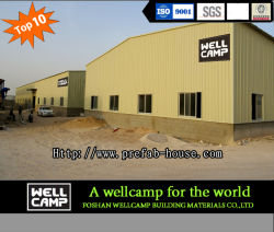 Wellcamp Light Steel Structure Portal Frame Steel Structure Steel Sheet Warehouse Project