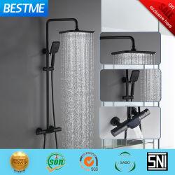 Preto fosco Electroplated 38 Segurança de temperatura de banho termostático Chuveiro Definir Bf-635140bk