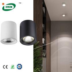 호텔 프로젝트 하이 파워 스퀘어 8W 표면 장착 천장 스팟 AC85-265V LED 다운 라이트