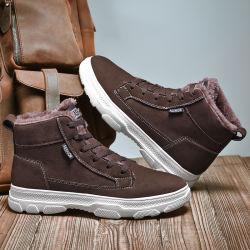 Mens de senderismo de invierno de moda los zapatos deportivos KEEP WARM Botas Antiskid al aire libre y resistente al desgaste de los hombres zapatos