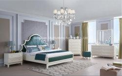 Slaapkamer van de Grootte van de Koning van de Reeksen van de Slaapkamer van het Meubilair van het Bed van het Ontwerp van het Gebruik van het huis de Recentste Moderne Witte
