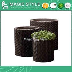 Vase en rotin Wicker Pot de Fleurs Vase de fleurs en rotin meubles de jardin Meubles de jardin en rotin Patio du semoir de Fleur pot de fleur de produits de jardinage (Magic Style)