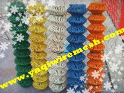 3.0mm PVC에 의하여 직류 전기를 통하는 체인 연결 담 비닐 다이아몬드 철망사 담