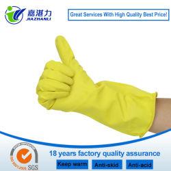 Partie supérieure en caoutchouc naturel cuisine domestique latex gants de nettoyage