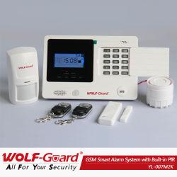 Système de sécurité d'alarme GSM MMS avec écran LCD et intégré dans le détecteur IRP Yl-007m2k d'alarme intrusion sans fil à domicile