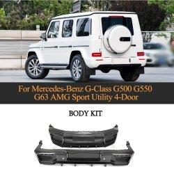 أطقم هيكل المصد الخلفي للسيارة من ألياف الكربون الجاف لمدة طراز Bz Mercedes G من الفئة W464 G500 G550 G55 G63 AMG 2019-2020