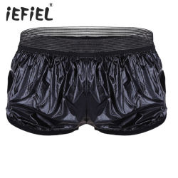 Mens Fashion shorts boxeur en similicuir mémoires Sports respirant pantalons courts