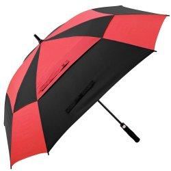 공장 프로모션 자동차 믹스 색상 방풍 섬유 유리 스틱 스퀘어 골프 우산 반자동 대형 바람 방풍 통기 골프 광장 우산 야외