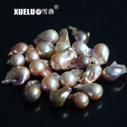 15-17mm AAAの品質の多色刷りの大きく自然な培養されたNucleated淡水の真珠は玉が付く(XL190014)