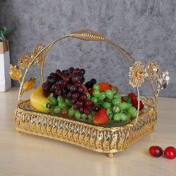 모두 메탈 글래스 볼 과일 야채 샐러드 볼 음식 용기 주방 식기류 메탈 스탠드 장식 과일 바구니 홀더 장식