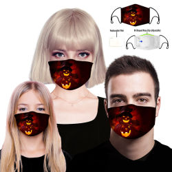 Luxo reutilizáveis anti poeira crianças Elásticos de impressão por sublimação térmica personalizada OEM de algodão de Seda Festa de Natal Impresso Máscara Kids Halloween Máscara facial para venda