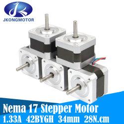 2상 하이브리드 스테퍼 모터 NEMA17 1.8도 Jk42HS34-1334