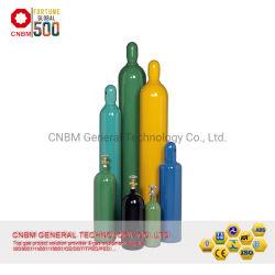 中国元の40L DOT-3AAの公認の継ぎ目が無い鋼鉄ガスポンプのOxygneシリンダーISO9809-3鋼鉄アルゴンのContainr 150barのヘリウムのガスタンクの/Liguidの二酸化炭素シリンダー