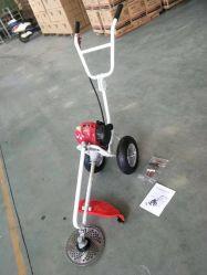 Pousser la main GX35 4 tondeuse à essence de course de l'herbe avec la roue de coupe de la brosse