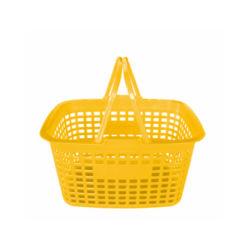 Japanische Art-Seiten-Loch-Handplastiksupermarkt-Einkaufskorb