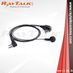 Eine Draht-Ohr-Knospe-Hörmuschel mit Inline-Mikrofonund Postverwaltung2 Pin-Verbinder für Motorola Tk3000, Radios Nx340