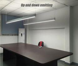 スーパーマーケットの倉庫のオフィスの屋内現代線形吊り下げ式の軽いオフィスの照明設備LED線形ライトのためのLEDの線形ライトによって中断される線形ライト