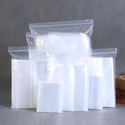 LDPE sacs Ziplock d'impression personnalisée avec fermeture à glissière, soudé de la fabrication sans BPA