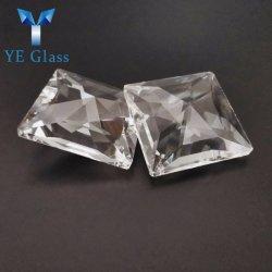 Cordón colgante de cristal transparente de piezas cuadradas de Candelabros