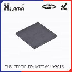 personalizado retangular grande bloco de ferrite de cerâmica plana fina do magneto de ferrite