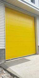 Наружные защитные элементы безопасности промышленных алюминиевый провод фиолетового цвета Сэндвич панели вид в разрезе безопасности полиуретановой пены изолированный склад гараж верхней дверцы
