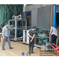 Pulire la macchina trasparente 20tons del creatore di ghiaccio del tubo per la bevanda fredda
