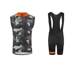 Neue Fahrrad-Abnützung-Männer `S des Entwurfs-MTB Sleeveless Kleidung stellte komprimierenden Jersey-im Freiensport-Weste-Schellfisch-Gesamt-Kurzschluss-Sommer ein