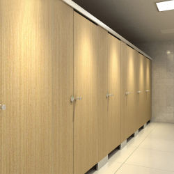 Cheap stratifié compact HPL Partition Public cabine de douche