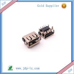 Интерфейс USB A F-10.0-4 -6.3h- Короткое замыкание органа, щипцы для завивки -- USB DIP черного цвета