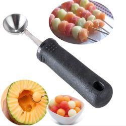 Edelstahl-Küche-Gerät-Frucht-Melone Baller mit Plastikgriff