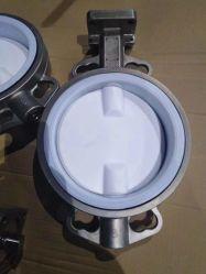 PTFE/Teflon/PFA、はさみ金またはカバー、シートまたはシーリング、ウエファーまたはフランジの蝶弁