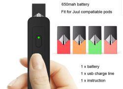 Penna variabile di fumo di tensione 650mAh BG di Vape della batteria di Juul del vaporizzatore del sistema del MOD del baccello della batteria di Vape della sigaretta di E della cartuccia compatibile del baccello
