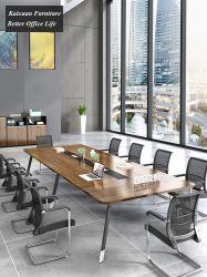 Chinses modernos de madera melamina Mesa en mobiliario de oficina