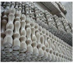 Barandilla de mármol blanco para la decoración exterior Baluster