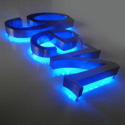 Fabriqué en plein air Mini 3D personnalisé de l'acrylique LED allumée le canal de chant lettre signer