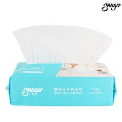 Suave de algodón de alta calidad Nonwoven toallitas seca Toalla Facial