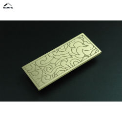 Nuage de haut niveau d'or en laiton Forme Rectangle d'impression de poignée de porte