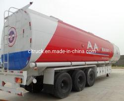 Tri-Axle de acero al carbono 50, 000 litros de petróleo crudo cbm 50 /cisterna de combustible para transporte de petróleo semi remolque