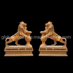 Décoration maison Jardin de sculpture de pierre à sculpter la statue Lion (GSS-269)